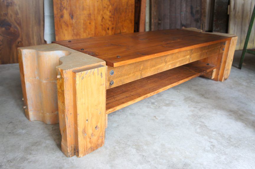 BN-09 RUSTIC BENCH WITH FOUNDRY MOLD ENDS ~ $1150
